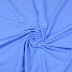 Dzianina bawełniana Jersey jednokolorowa niebieska