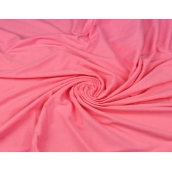 Dzianina bawełniana Jersey jednokolorowa różowa