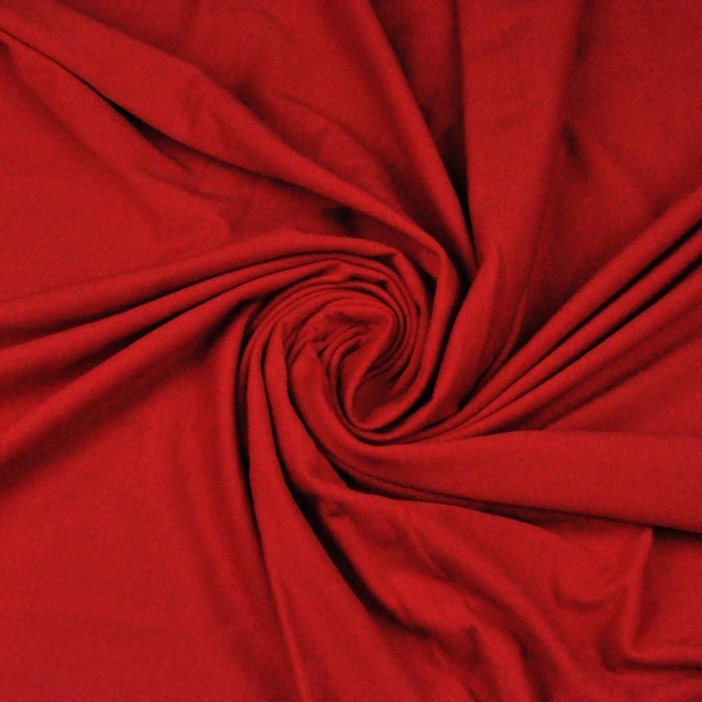 Dzianina bawełniana Jersey jednokolorowa czerwona