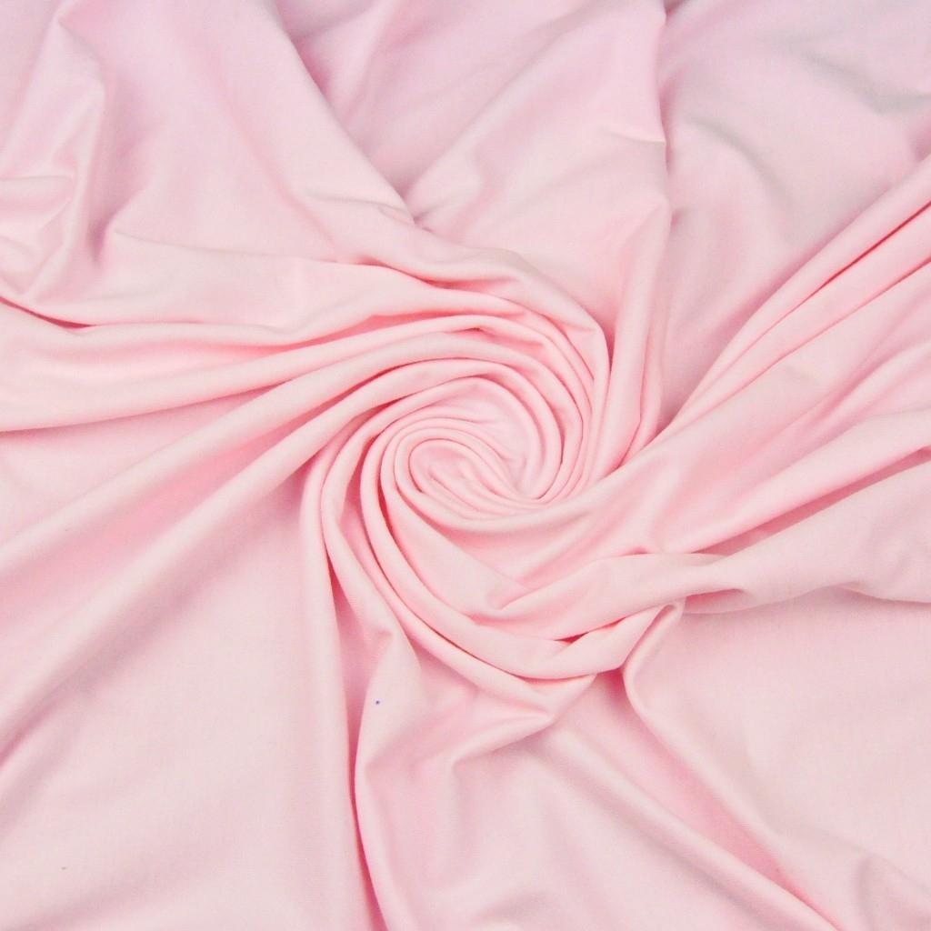 Dzianina bawełniana Jersey jednokolorowa pudrowy róż