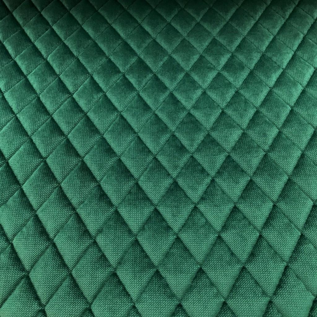 Velvet pikowany butelkowy zielony - romby