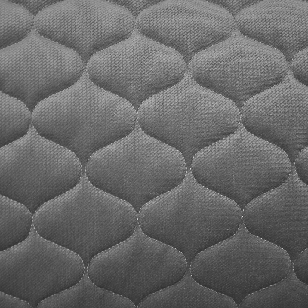 Velvet pikowany ciemny szary - bączki