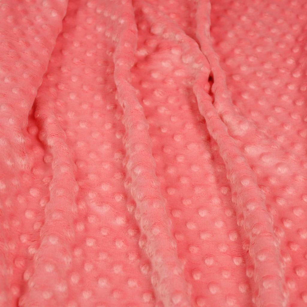 Materiał Minky Premium 270g/m2 - mrożona truskawka