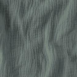 Imagén: Tkanina Muślin double gauze szaro zielony (Natural Gray)