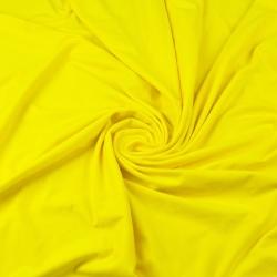 Dzianina bawełniana Jersey jednokolorowa zółta