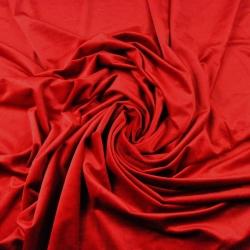 Tkanina aksamit Poliestrowy czerwony