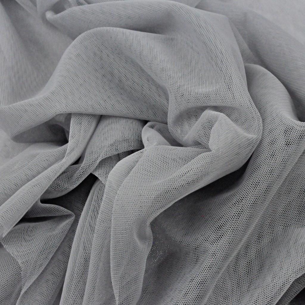 Tiul ubraniowy miękki - szary
