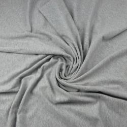 Dresówka z pętelką - jednokolorowa szary jasny melanż