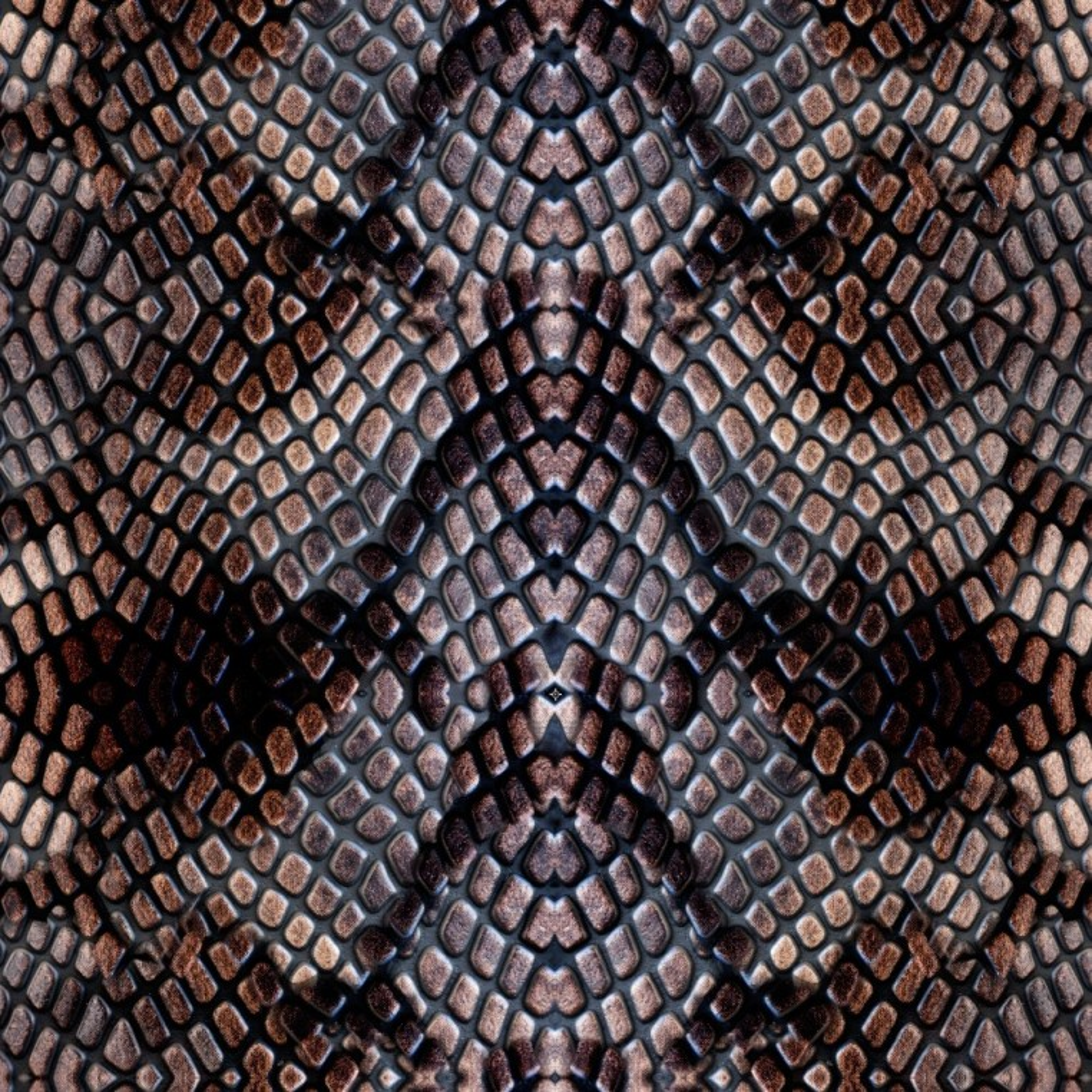 Dresówka z pętelką  wzór wężowy brązowy - druk cyfrowy
