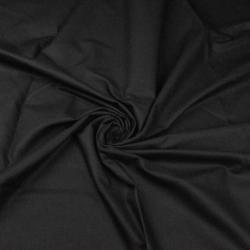 Tkanina gładka czarna 220cm