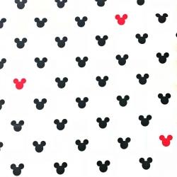 Tkanina w MIKI czarno czerwone na białym tle