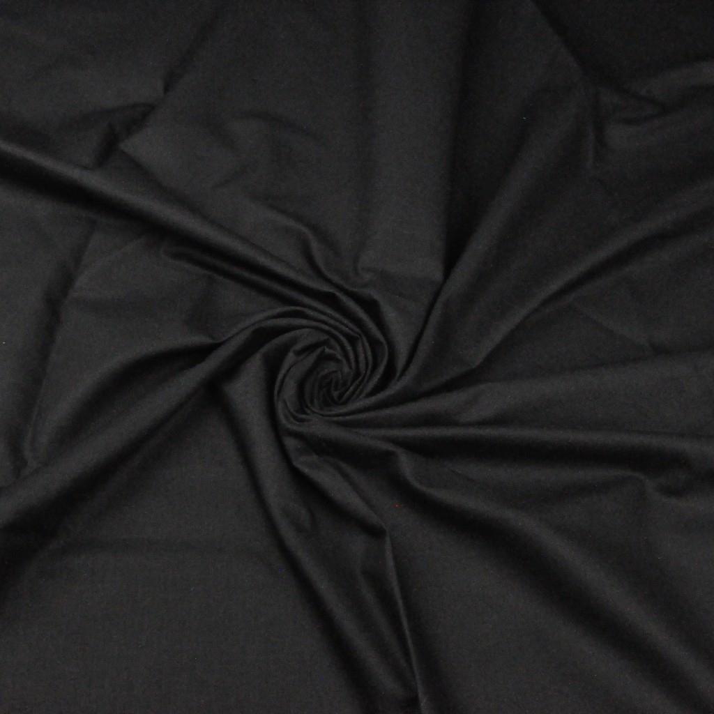 Tkanina gładka czarna