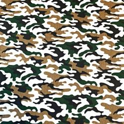 Tkanina wzór MORO mały zielono beżowo biały