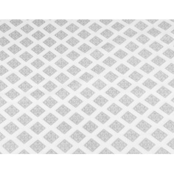 Imagén: Tkanina geometryczna romby wzorzyste szare na białym
