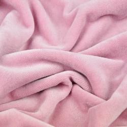 Welur bawełniany odzieżowy - brudy róż