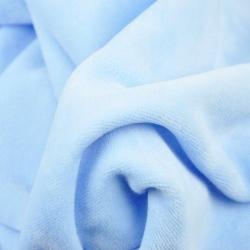 Welur bawełniany odzieżowy - błękitny
