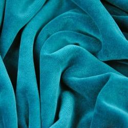 Welur bawełniany odzieżowy - szmaragdowy