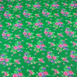 wzór krakowski na zielonym tle