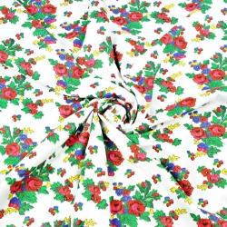 wzór krakowski na białym tle