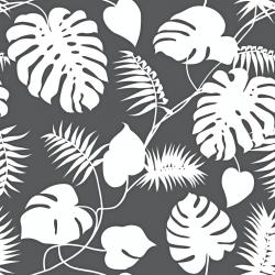 liście białe na ciemno szarym tle