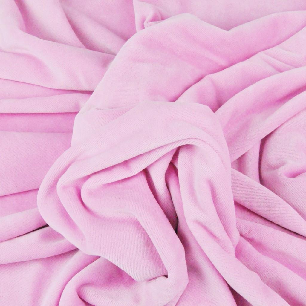 Welur bawełniany odzieżowy - jasny róż