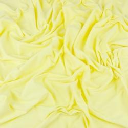 Dzianina bawełniana Jersey jednokolorowa jasny żółty