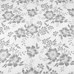 kwiaty szare na białym tle