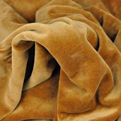 Welur bawełniany odzieżowy - karmelowy