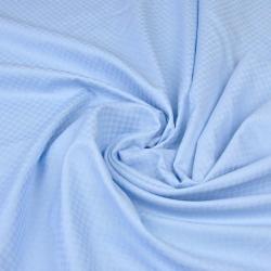 Adamaszek bawełniany jasny niebieski kwadraty