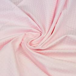 Adamaszek bawełniany jasny różowy kwadraty