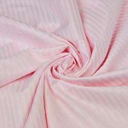 Adamaszek bawełniany jasny różowy paski