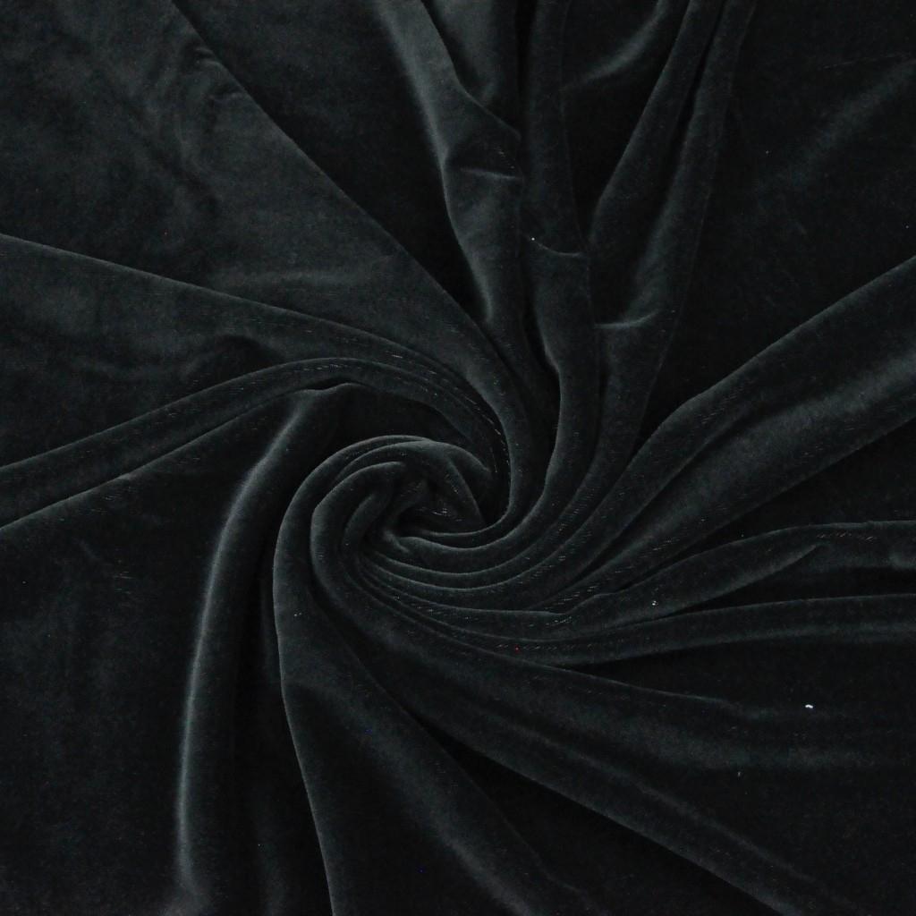 Welur bawełniany odzieżowy - czarny
