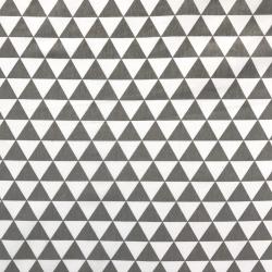 Bawełna Trójkąty białe/szare