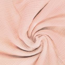 Tkanina Muślin double gauze ciemny morelowy róż (Cloud pink)