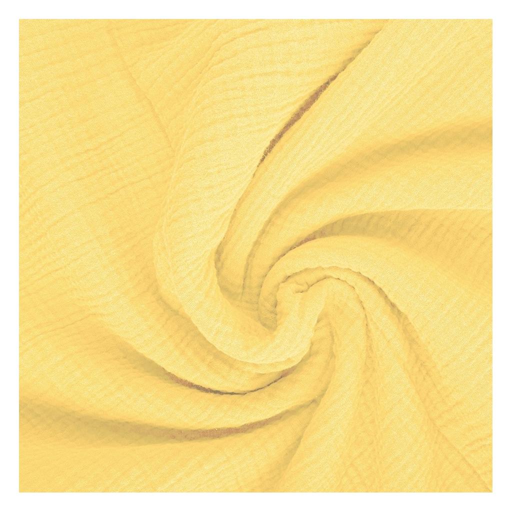 Tkanina Muślin double gauze kremowy żółty (Double Cream)