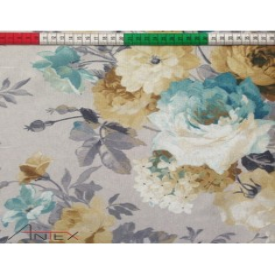 Tkanina Zasłonowa kwiaty 9 CANVAS
