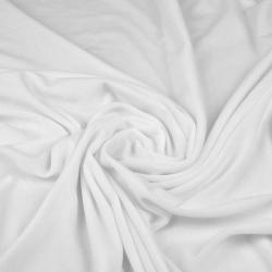 Welur bawełniany odzieżowy - biały