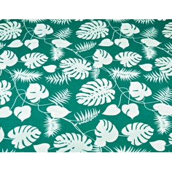 liście białe na zielonym tle