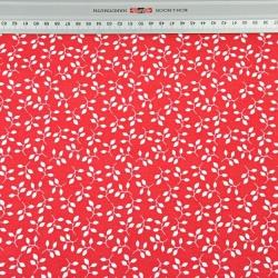 Gałązki MINI białe na czerwonym tle