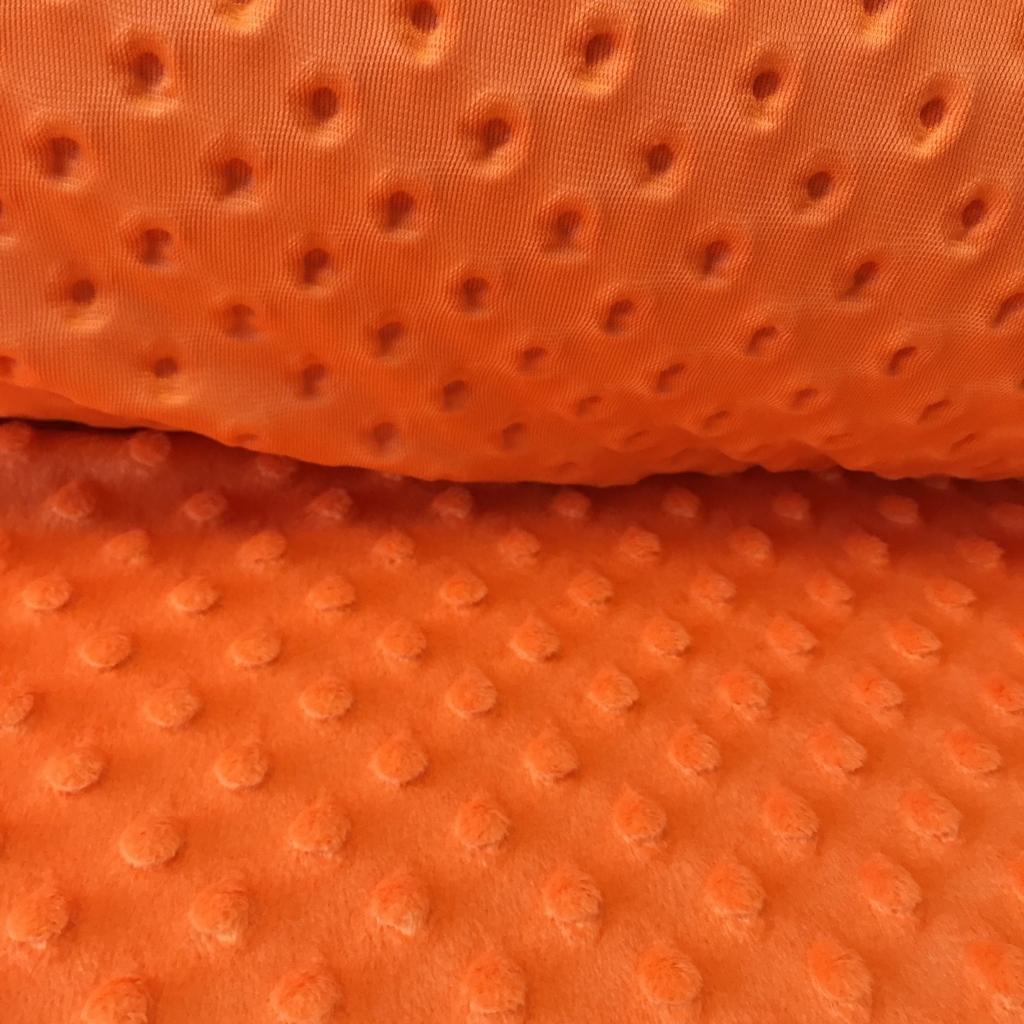Materiał Minky pomarańczowe 2