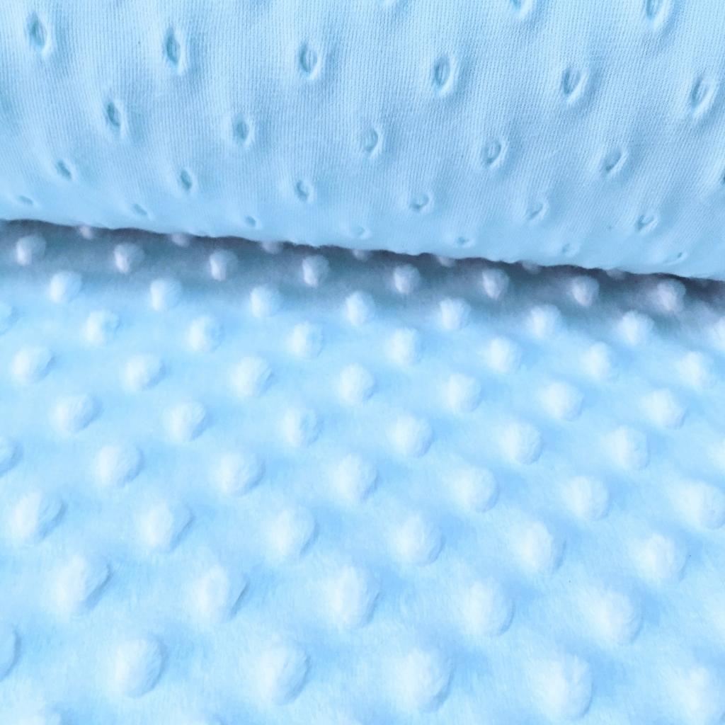 Materiał Minky błękitny 8