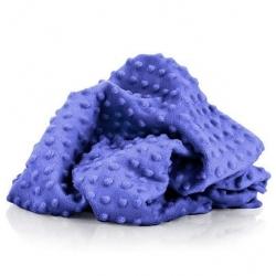 Materiał Minky Premium chabrowy (Iris)