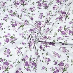 gałązki różyczek fioletowe na białym