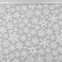 wzór świąteczny śnieżynki białe na szarym tle