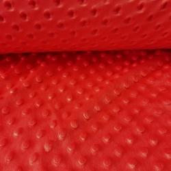 Materiał Minky czerwony 17