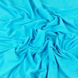 Imagén: Dzianina bawełniana Jersey jednokolorowa turkusowa