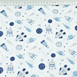 kosmos MINI niebieski na białym tle