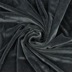 Welur bawełniany odzieżowy - ciemny szary