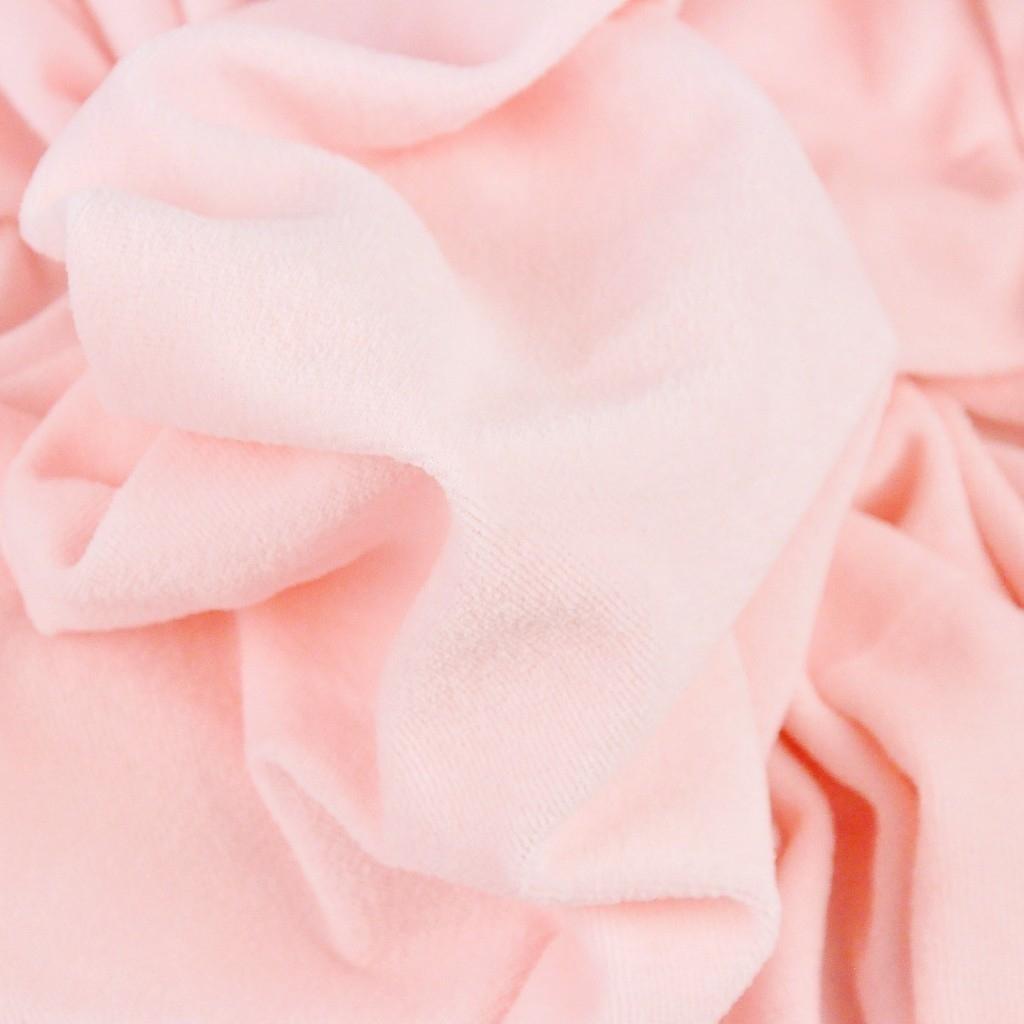 Welur bawełniany odzieżowy - pudrowy róż