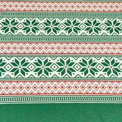 Wzór świąteczny pasy z gwiazdkami zielone